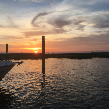 Sunset over the Stono